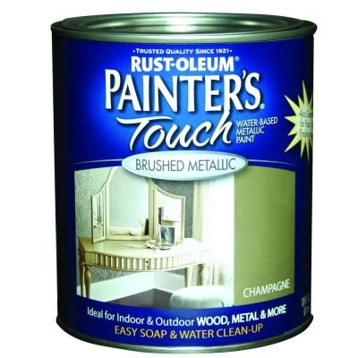 Rust-Oleum Painter's Touch 32 oz. Ultra Cover Metallic Champagne General Purpose Paint (2-Pack)-246061 - The Home Depot