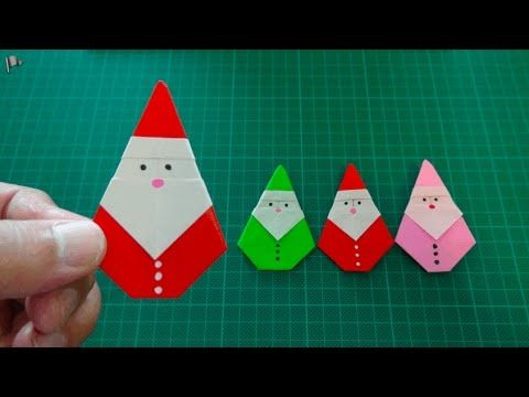 origami【Christmas/Santa Claus】 - YouTube