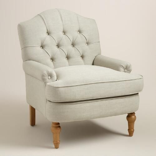 One of my favorite discoveries at WorldMarket.com: Natural Linen Annella Chair