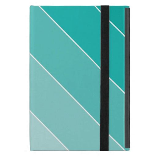 Aqua Ombre Stripes Case For iPad Mini