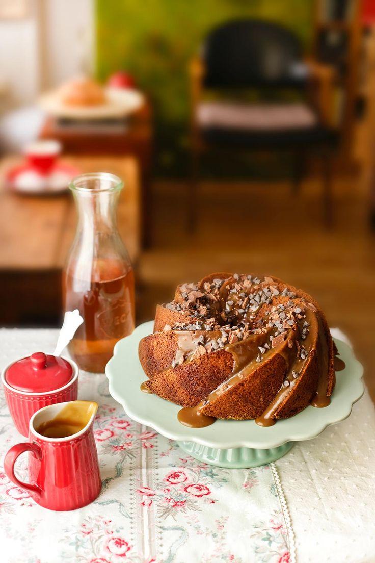 Bundt cake de calabaza y caramelo