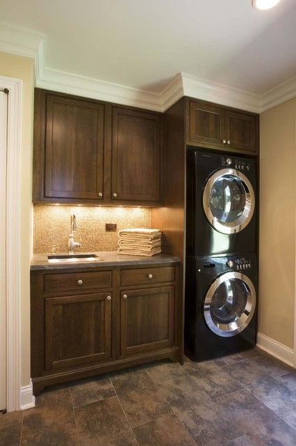 Efficient Use Of The Space- 19 Small Laundry Room Design Ideas