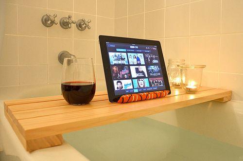 DIY shower & tub shelf by funnelcloud rachel, via Flickr