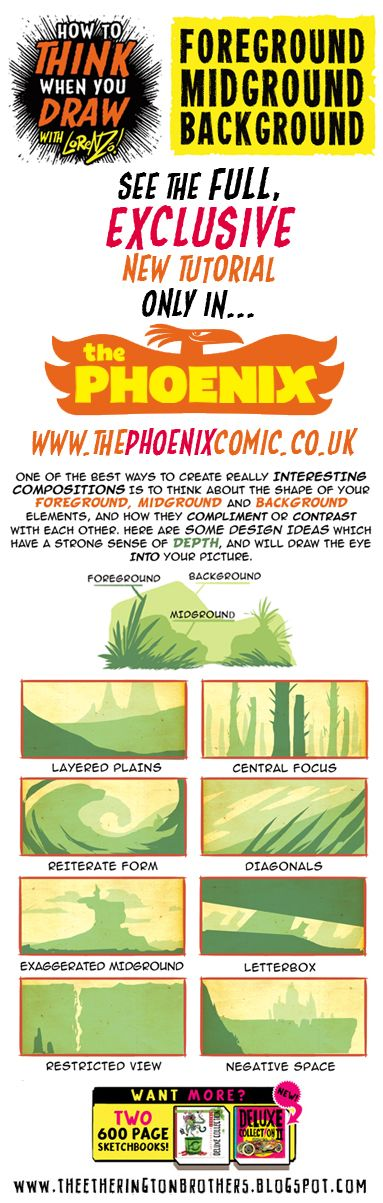 Scroll down for a sample from this week's tutorial for The Phoenix , in which I look at How to THINK when you draw using FOREGROUND, MIDGROU...