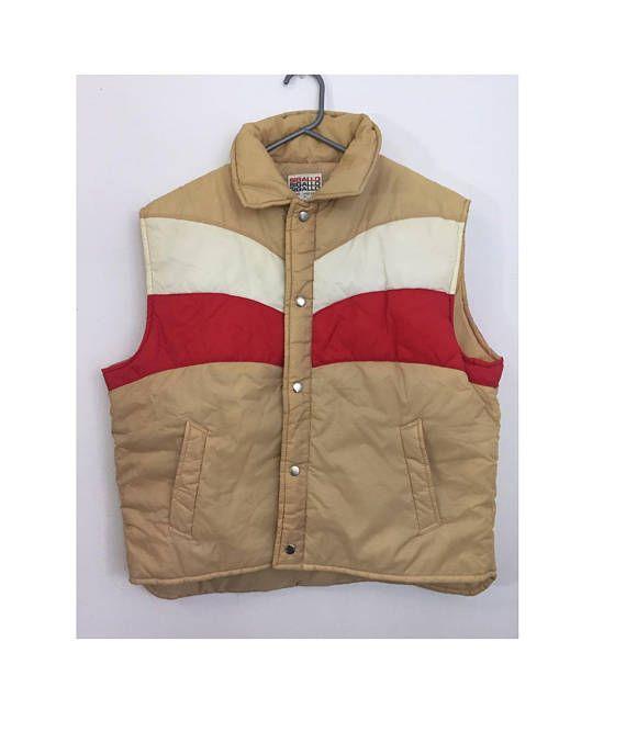 70's Puffer Vest  Mens Large Puffer Vest  That 70's