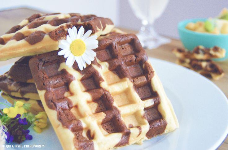 gaufres marbrées au chocolat