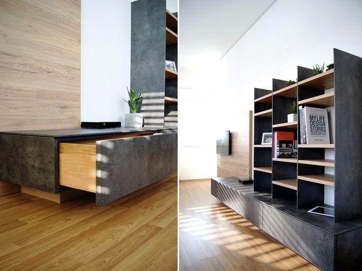 material beton optik + eiche sanremo  http://krumhuber-design.at/projekt/wohnzimmer-eb/
