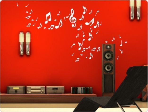"""*Wandtattoo """"Noten und Notenschlüssel"""" (51 Teile)*  Mit unseren hochwertigen Wandtattoos kannst du einfach, schnell und günstig deine Wände verschönern! So erhält deine Wohnung im Handumdrehen..."""