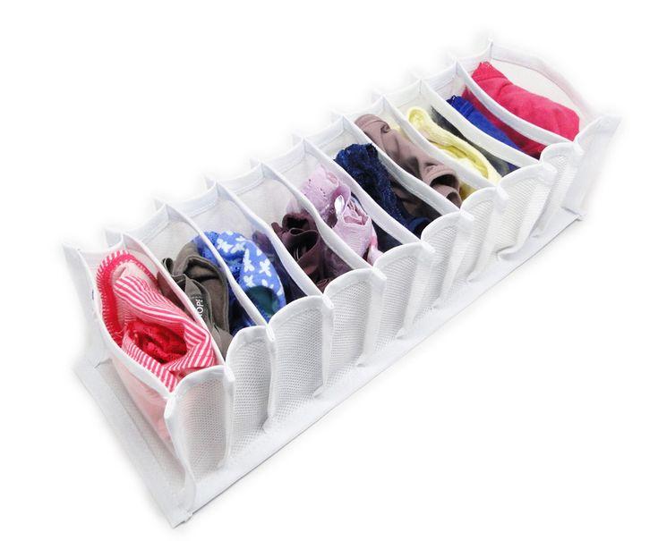 25 melhores ideias sobre organizador de gaveta com meias - Organizador de bolsas de plastico ...