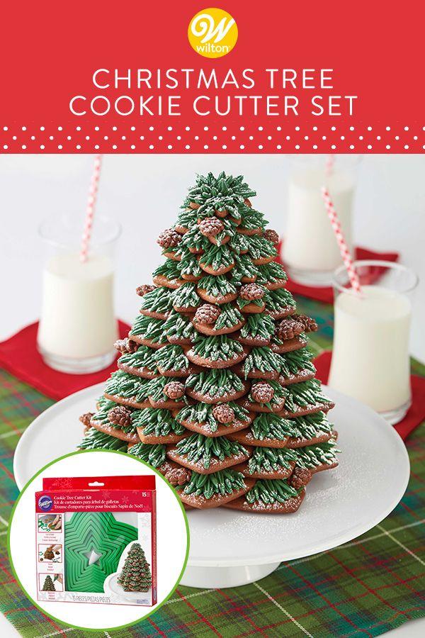 Christmas Cookie Tree Cutter Kit 15 Piece Christmas Tree