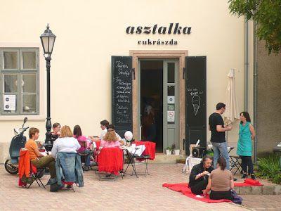 Asztalka (Budapest)  http://www.asztalka.com/#!kezdolap/c1qtz  H–K: zárva Sze–P: 15–18 Szo–V: 11–18