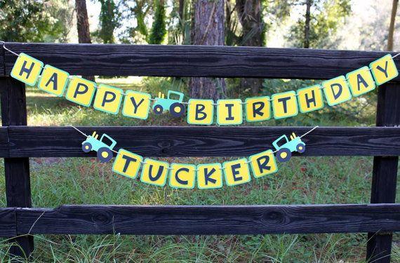 John Deere birthday banner John Deere inspired by PolkaDotWhale, $35.00