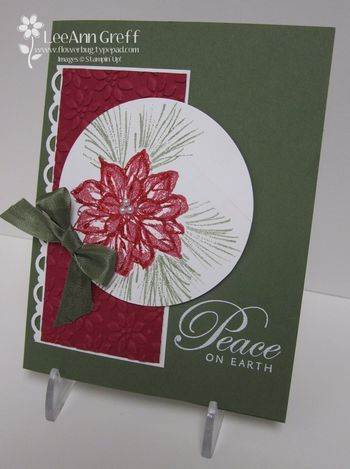 Watercolor  Winter Artichoke from LeeAnn Greff at Flowerbug's Inkspot. I love this simple layout.
