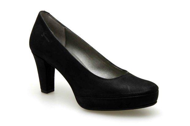 Escarpins compensés DORKING 5794-PE Noir - Chaussures femme