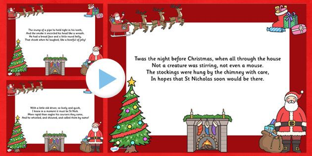 Twas the Night Christmas Poem Powerpoint