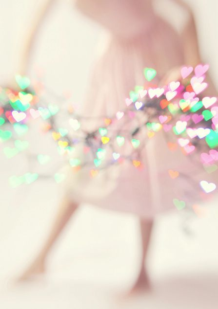 <3  Heart-shaped bokeh.  Such a pretty composition, will definitely try this.