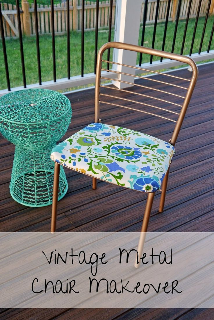 Vintage metal patio chairs - Strawberry Jam House Vintage Metal Chair Makeover