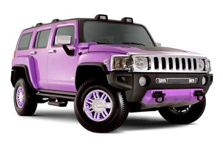 Purple Car of Hummer H3
