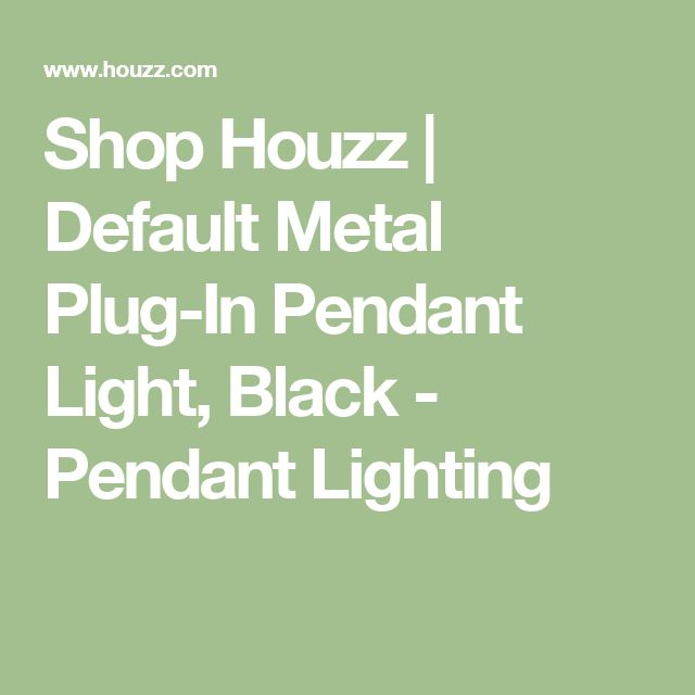 Shop Houzz | Default Metal Plug-In Pendant Light, Black - Pendant Lighting