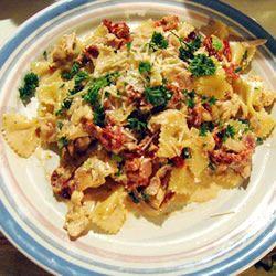 Creamy chicken and bacon pasta recipe - All recipes UK