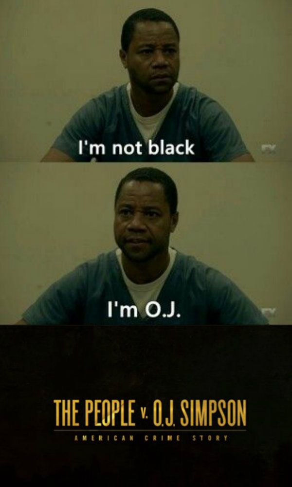 Cuba Gooding, Jr. as OJ Simpson in American Crime Story: The People v. OJ Simpson.