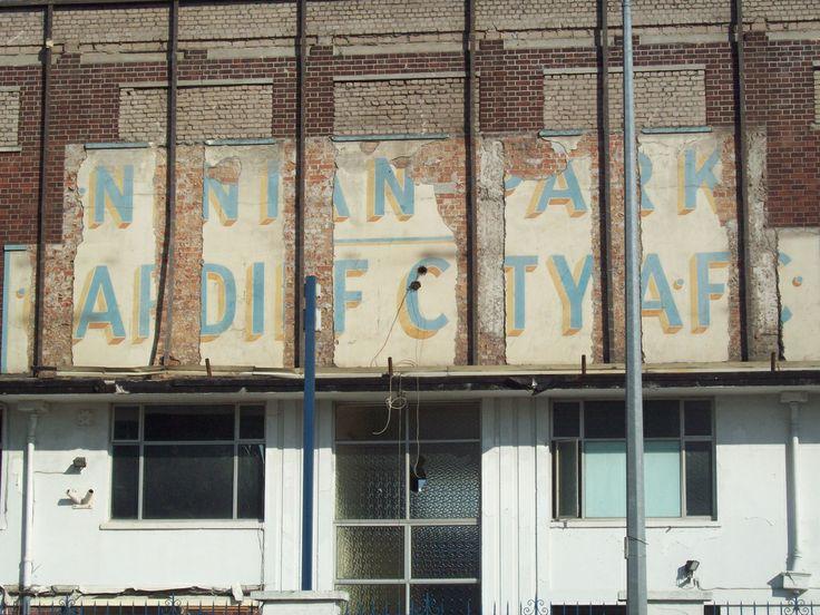 Ninian Park Demolition - original sign revealed