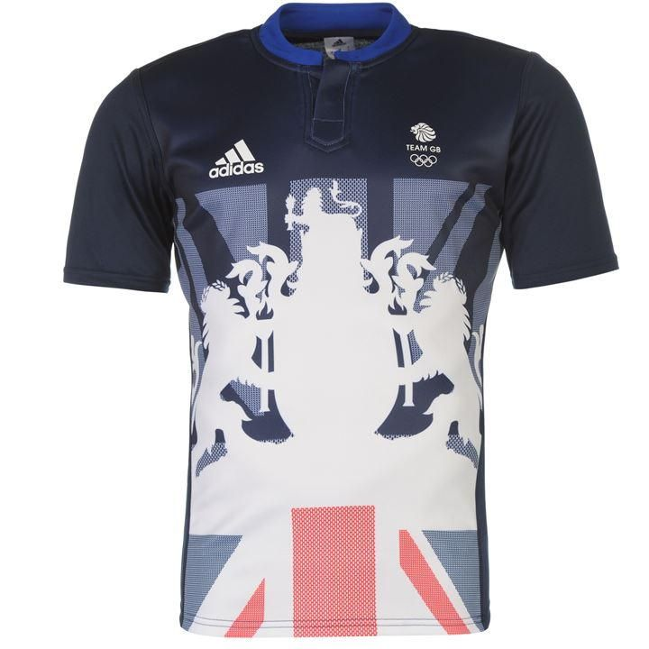adidas | Team GB 1905 Logo Long Sleeved Rugby Shirt | Rugby Replica Shirts