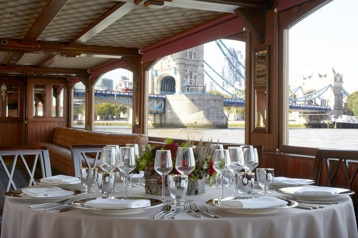 Dining underneath Tower Bridge on the PS Elizabethan