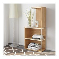"IKEA PS 2014 Storage combination with top, bamboo, white - 13 3/4/23 5/8x27 1/2/51 1/8 "" - IKEA"