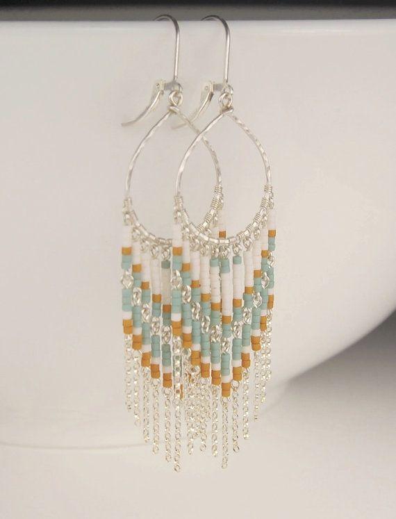 On Sale Long beaded earrings chandelier earrings in by revelling