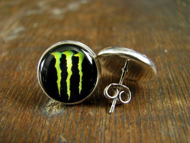 Monster Earrings Energy Drink