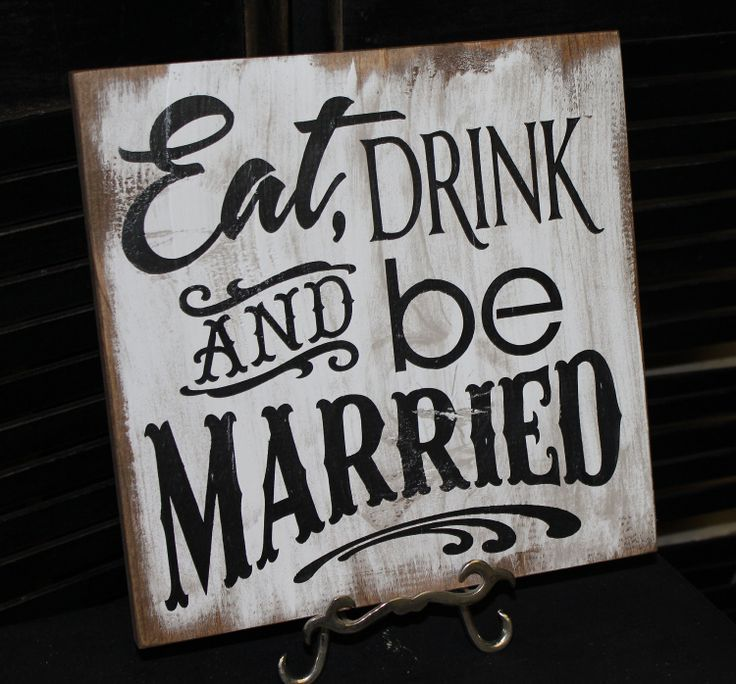 Eat Drink Be Married clever wedding