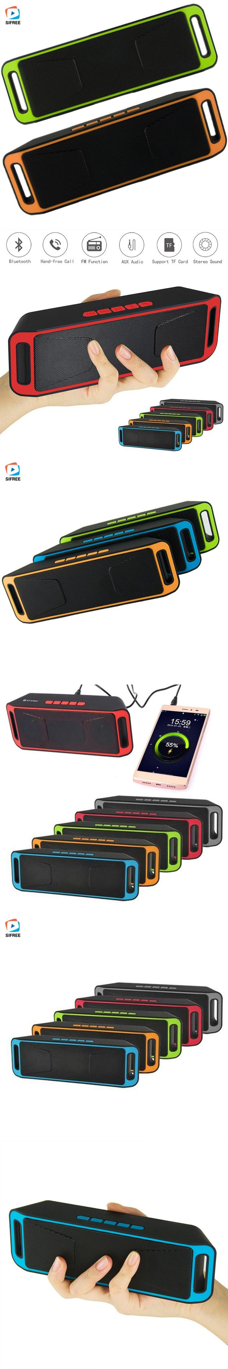 New Portable Wireless Bluetooth Speaker Stereo Support TF USB AUX Built-in Mic Sound Box Music Surround speaker 5 colors