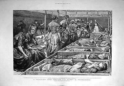 Old Print 1892 Salvation Army Shelter Women Whitechapel Dormitory 275TM145    eBay