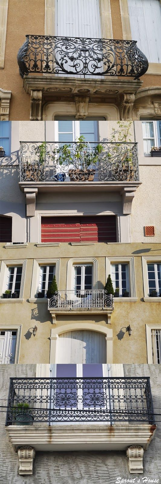 Sprout's House: French Balcony and Railing inspiration!