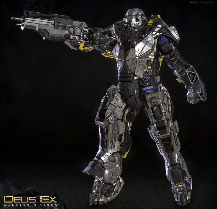 ArtStation - Deus Ex Mankind Divided : Mechanical Ogre game res, Frederic Daoust