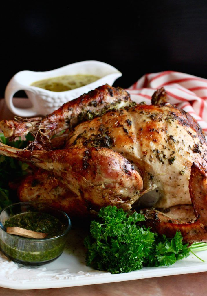 Chimichurri Butter Roasted Turkey