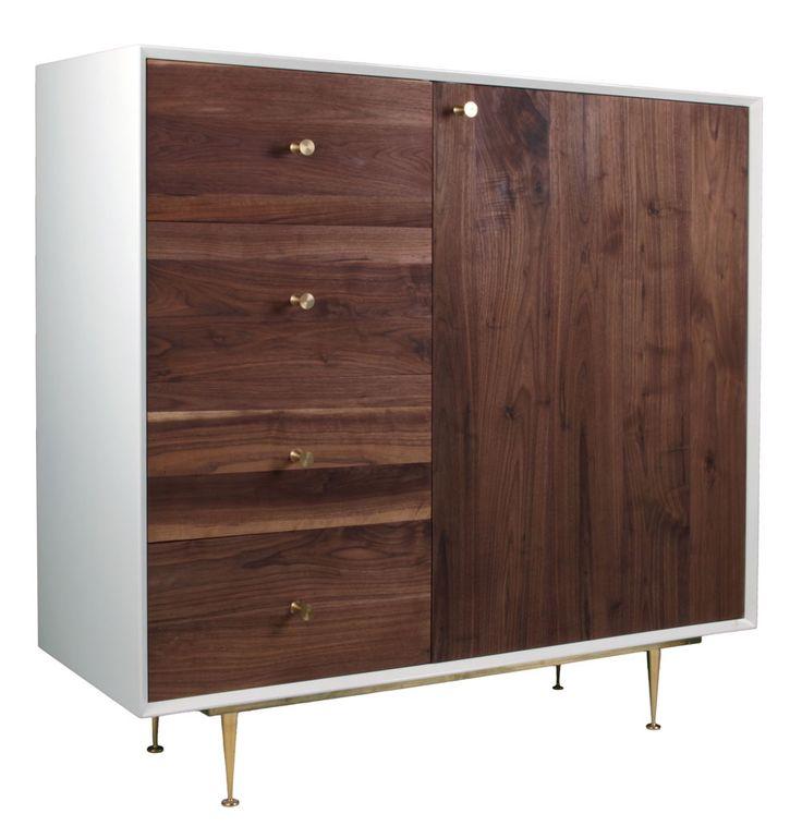 Karl 1 Door 4 Drawer Tall (C) Cabinet - Matt Blatt
