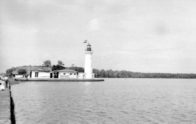 the lonesome batavia's lighthouse in muarabaru.