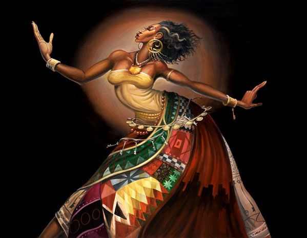 beatiful  african paintings | 30 Stunning Black woman Paintings and Illustrations by Frank Morrison