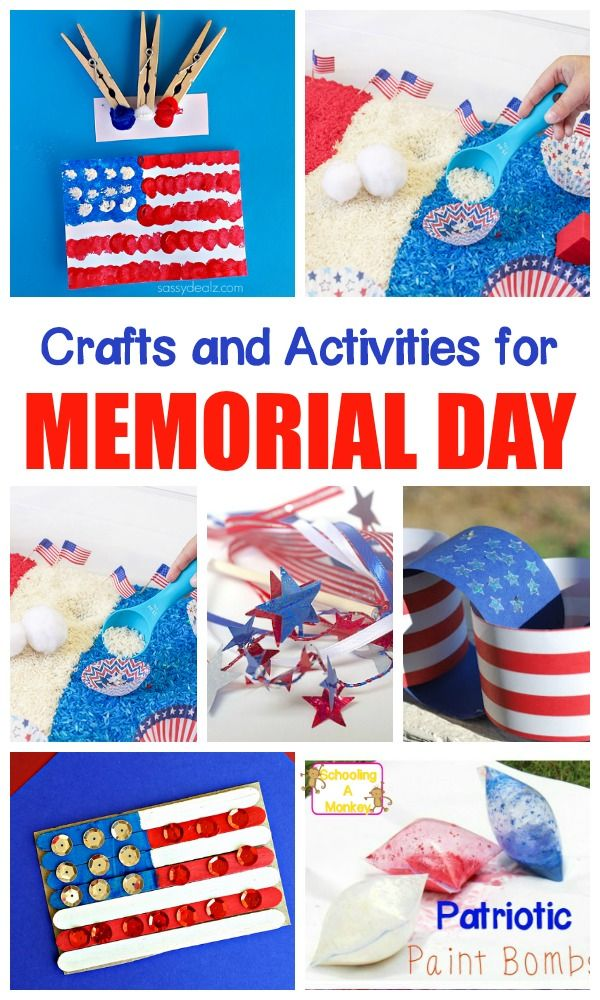 Remember our soldiers with these patriotic Memorial Day crafts and patriotic activities for kids that help remember the soldiers who keep our country safe!