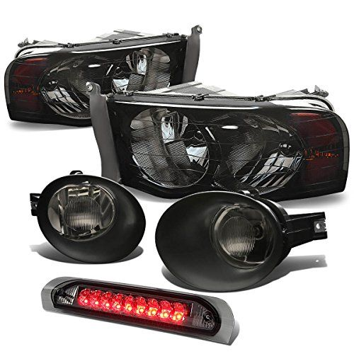 Dodge Ram Headlight (Smoke)+Bumper Fog Light (Smoke Lens)+LED Third Brake Light (Smoke)  Plug-n-Play Operation, Direct Bolt-On OE Fitment or Replacement for the Stock Unit  Fog Light Enhance Visibility During Night Time, Heavy Rain, Snow, or Dense Fog  Brings a Different Appearance to Veichle that Great for Show Use  S.A.E. (Society of Automotive) and D.O.T. (Department of Transportation) Approved to Ensure the Quality and Fitment  Application: Please check part finder on top of the pa...