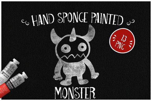 Sponge Painted Monsters by Kaazuclip on @creativemarket