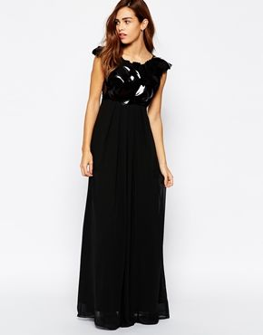 Enlarge Arrogant Cat Sculptural Sequin Maxi Dress