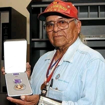 """You need to follow @zulufucxs:  ... """"Only 10 Navajo Code Talkers from World War II remain alive to this day. Cpl.Teddy Draper Sr. passed away this morning at the age of 96. He served in the 5th Marine Division fighting in the Pacific earning a Purple Heart on Iwo Jima amongst other awards. The greatest generation is fading away  and as the generation that will see them go we have a moral obligation to carry on their legacy."""