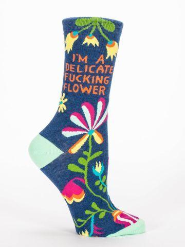 Delicate Fucking Flower | Blue Q Novelty Socks