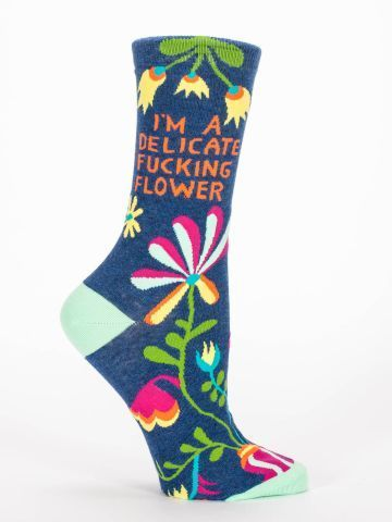Delicate Fucking Flower | Blue Q Novelty Socks