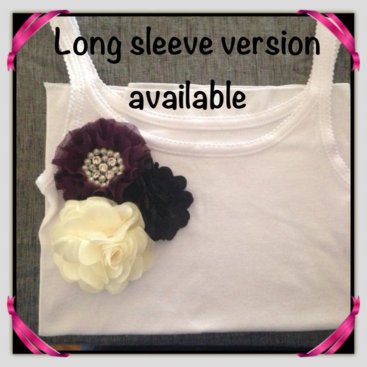 Girl's Cotton Stretch Singlet handmade with Floral embellishment with sizing from 1-2 to 9-10. Also available in long sleeve design.    Available to pre-order from www.maxidressheaven.com #girl #clothing #handmade #singlet