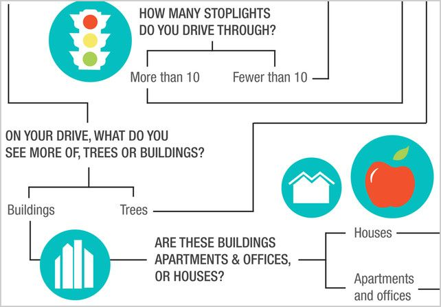 Are You A City Slicker, Or A Suburbanite In Disguise? |: Interesting Info, Decision Tree, Infographic, Co Design, Innovation Design