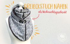 Lybstes Weihnachtsgeschenk, Tutorial von grünkariert: Dreieckstuch nähen, Wickelschal Freebook